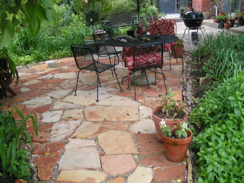 flagstone landscaping. Natural Stone Patio - Ozark Sandstone Pavers Saint Louis Missouri Flagstone Landscaping