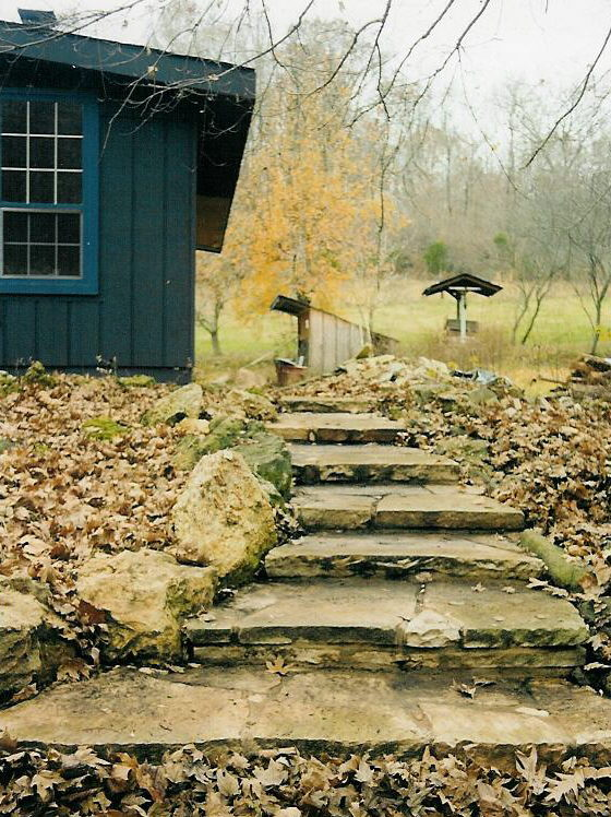 Natural Stone Steps and Benches - Ideas from Gottschalk Quarry